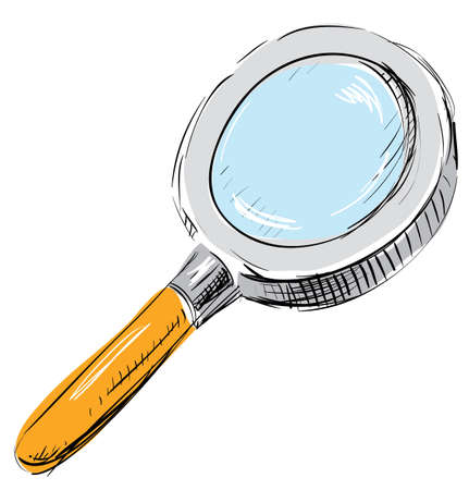 Magnifying glass search find icon illustration Stock Vector - 18010609