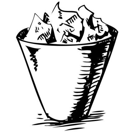 dispose: Trash bin Illustration