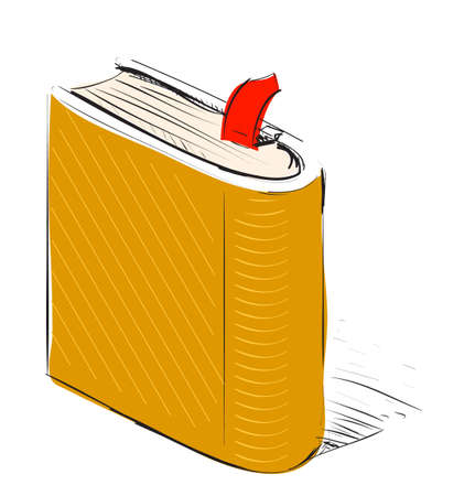 Book, note book with bookmark Vector
