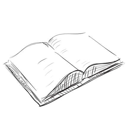 Open book sketch icon illustration Vector