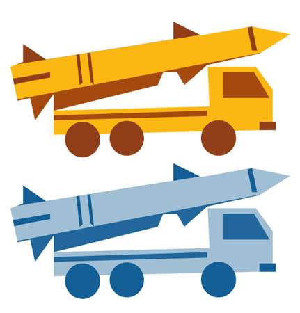 cruise missile: Military missile vehicle cartoon silhouette