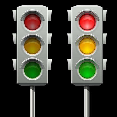 Traffic lights in two modes Stock Vector - 18031111