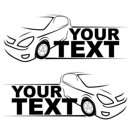車レーシング自動ロゴ
