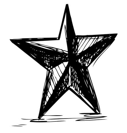 Star symbol in doodle style Stock Vector - 18031099