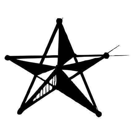 Star symbol in doodle style Stock Vector - 18031087