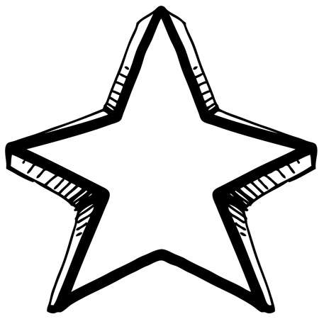 Star symbol in doodle style Stock Vector - 18031116