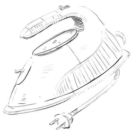 smoothing: Smoothing iron Illustration