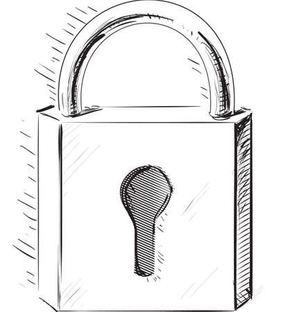Sketch lock icon Vector