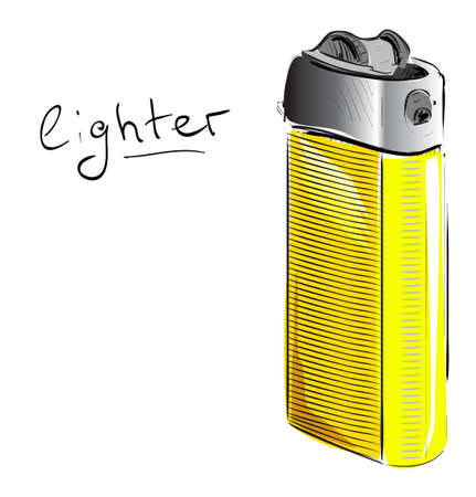 igniter: Lighter cartoon sketch  illustration