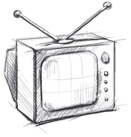 Retro tv with antenna Stock Vector - 18269535