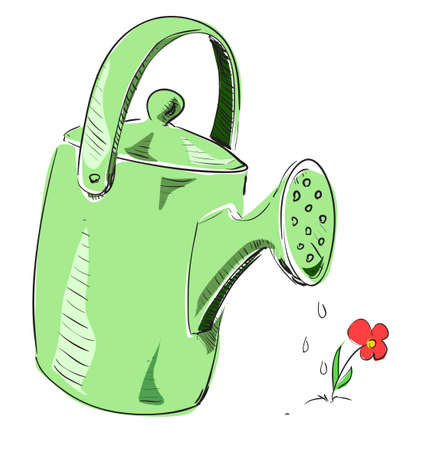 Watering can cartoon icon photo