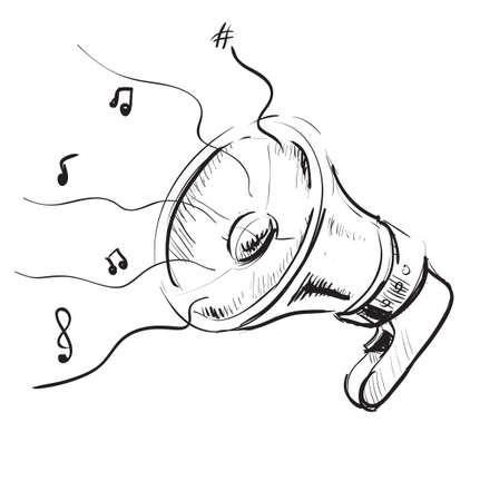 Megaphone sketch icon Stock Vector - 18269491