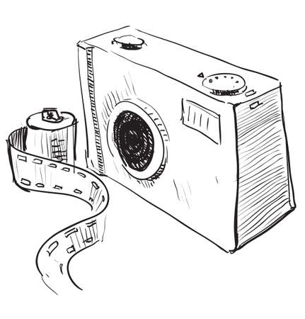 quick drawing: Analogue photo camera icon