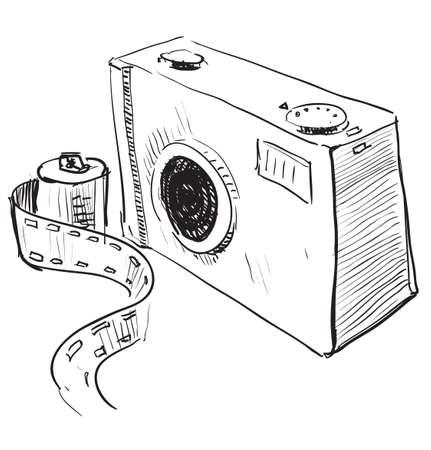 Analogue photo camera icon