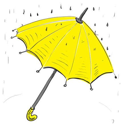 Umbrella under the rain Stock Vector - 18270994