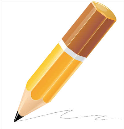 Pencil isolated detailed illustration Vector