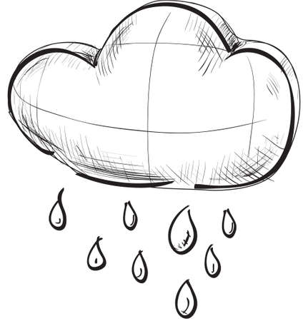 climate change: Cloud with rain weather icon