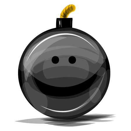 Bomb with smile  illustration Stock Vector - 18483819