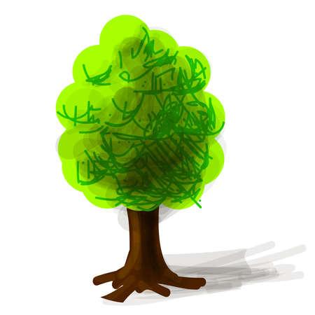 Tree cartoon icon  illustration Stock Vector - 18483749