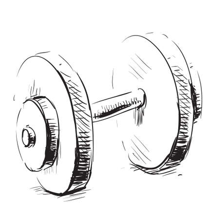 Gum weight dumbbell cartoon icon photo