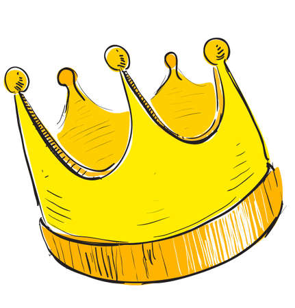 Simple crown icon Vector