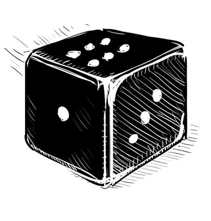 Lucky dice cartoon icon