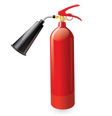 Rode metalen glans brandblusser