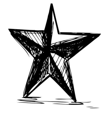 Star symbol in doodle style Stock Vector - 19013285