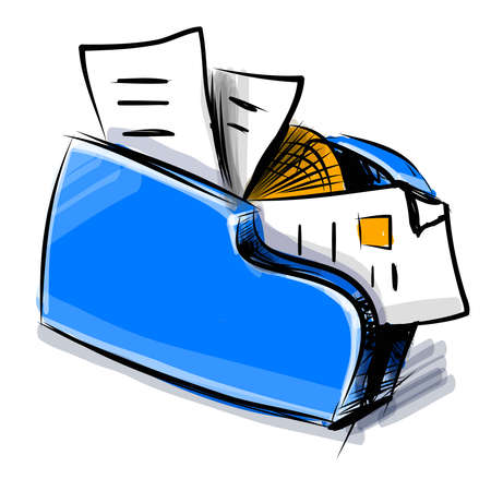 Folder icon cartoon vector illustration Stock Vector - 19111469