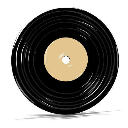 tracklist: Vinyl vector icon cartoon sketch illustration