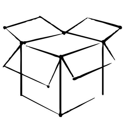 outline drawing: Icona Box Vettoriali