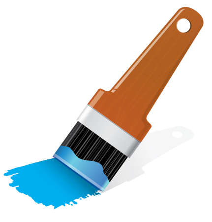 Brush with paint Vector