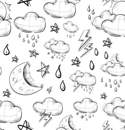 Weather seamless pattern photo