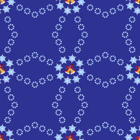 Christmas background with bells and snowflakes Stock Photo - 19330275