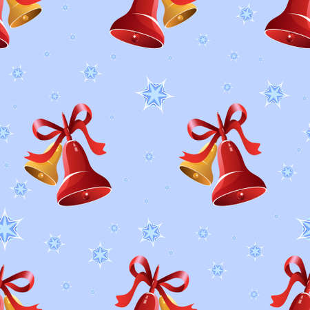 Christmas background with bells and snowflakes Stock Photo - 19330244