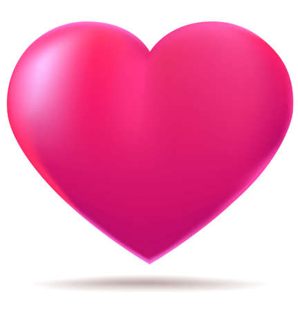 love heart: Pink glossy heart Stock Photo