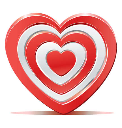 romance strategies: Red heart target aim Illustration