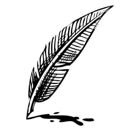 a poet: Escribir pluma con mancha de tinta