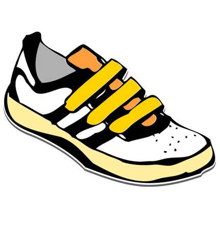Cartoon sneakers shoe illustration