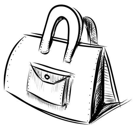 hand bag: Bolso de mano aislados en blanco