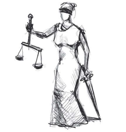 derecho romano: Themis Femida diosa de la justicia Foto de archivo