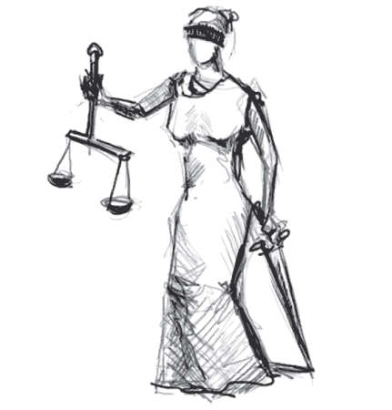 roman blind: Themis  Femida  goddess of justice Stock Photo