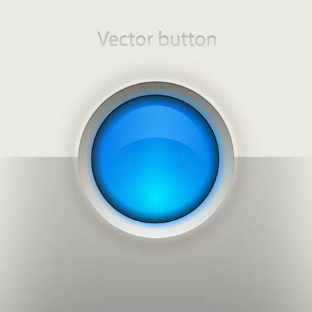 Glossy empty button Stock Vector - 19449243
