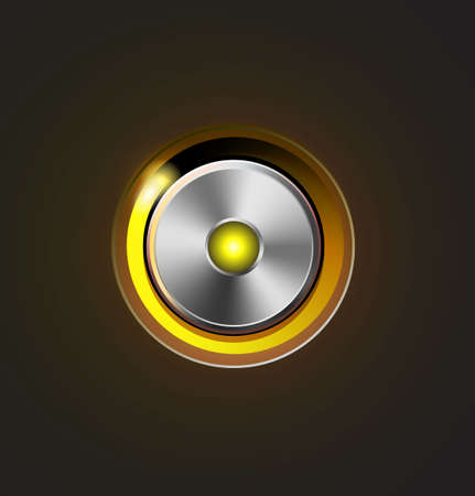 Glossy media player metal button Stock Photo - 19449101