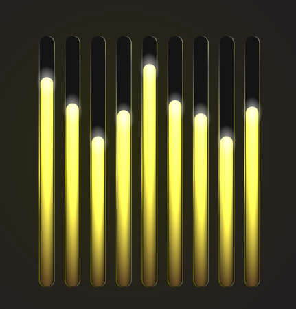 Equalizer glossy glowing track bar photo