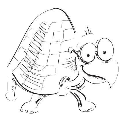 lowbrow: Tartaruga del fumetto con gli occhiali