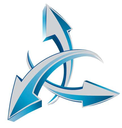 Arrows 3d web cursors