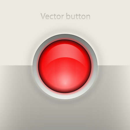 Glossy empty button Stock Vector - 19592004
