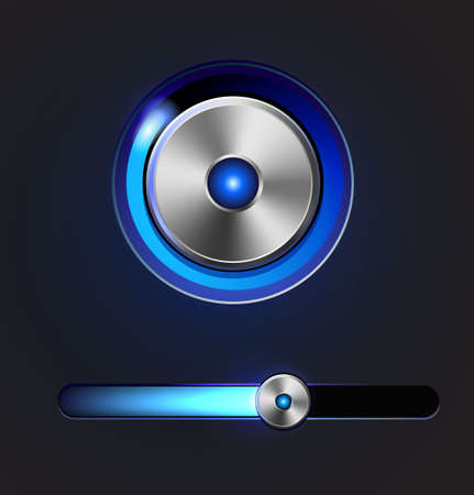Glossy media player button and track bar Stock Photo - 19591755