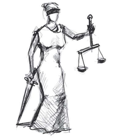 Themis  Femida  goddess of justice Ilustrace
